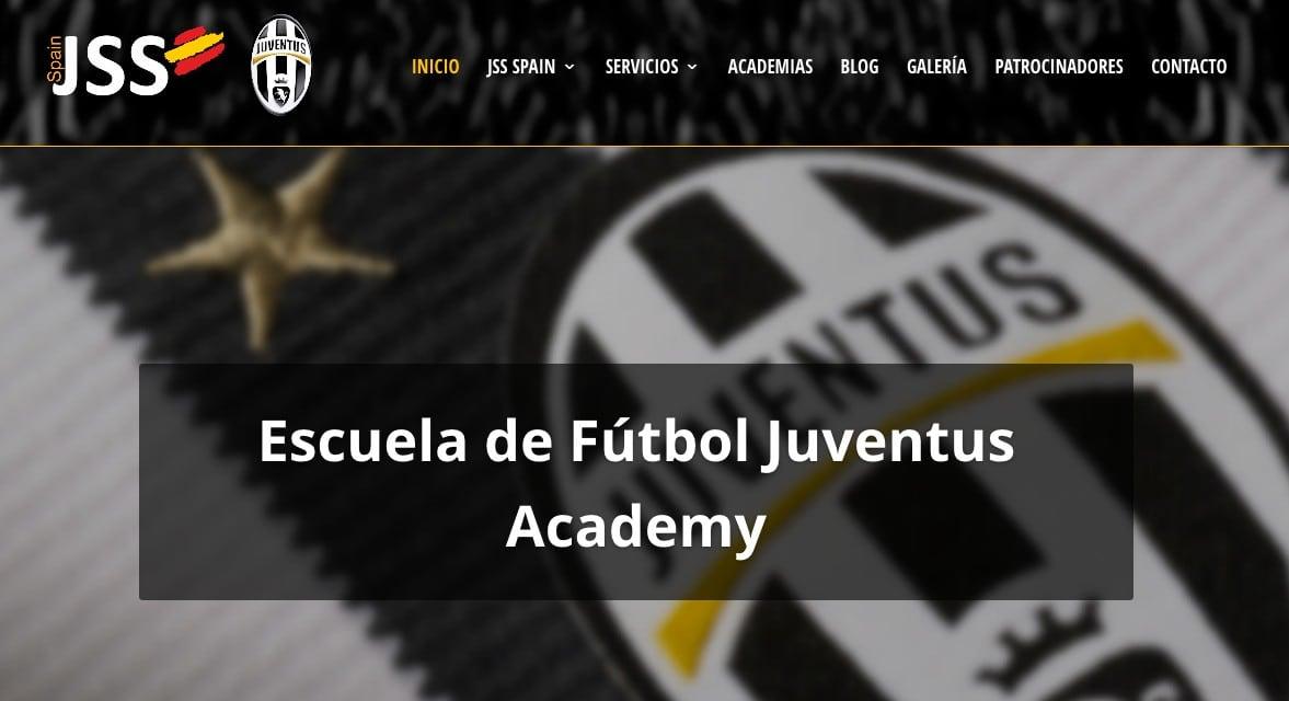 Creación web academias de fútbol Juventus en España. Diseño de la página web para escuelas deportivas.