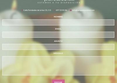 diseno web pagina masajes Diseño paginas web