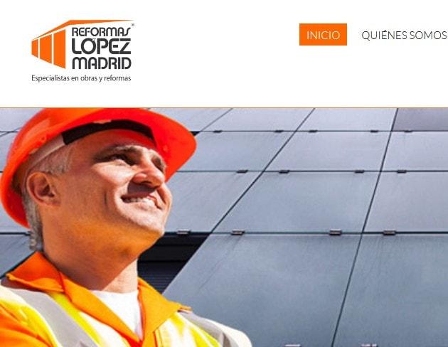Diseño de página web para empresa de reformas electricidad fontaneria albañileria Reformas López