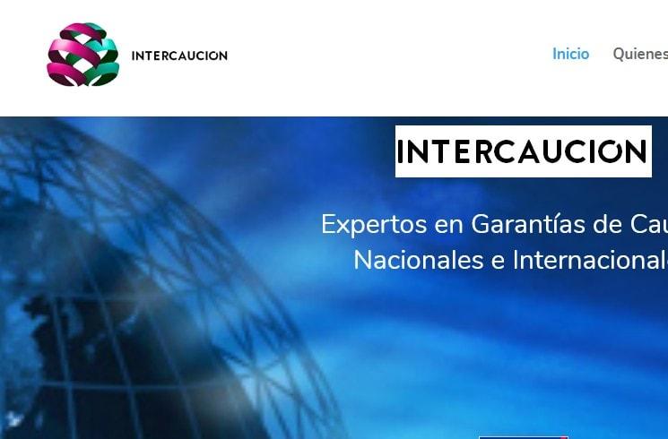 Diseño de página web para seguros de caución comerciales y contractuales Intercaución