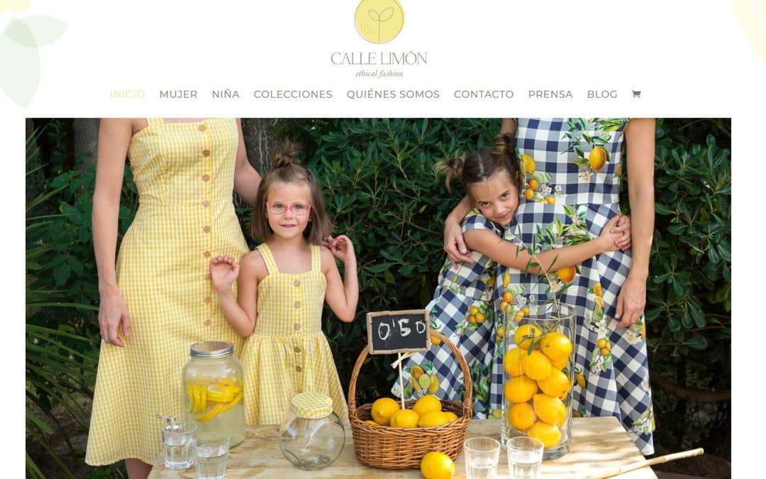 Diseño de tienda online de moda. Tienda web y pagina corporativa de moda ética para empresa de Madrid.