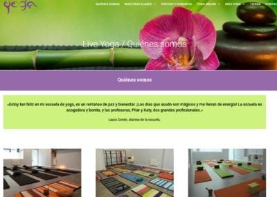 diseno centro yoga clases Diseño paginas web