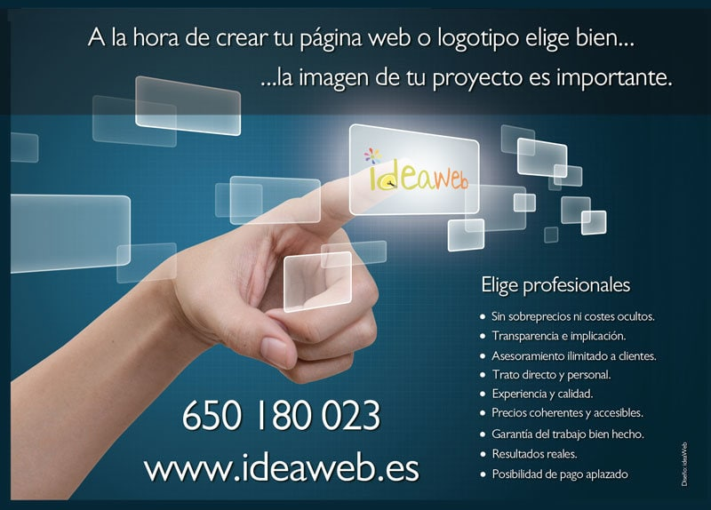 Diseño de flyers para ideaWeb