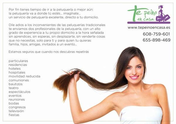 Diseño de flyers publicitarios para peluquería