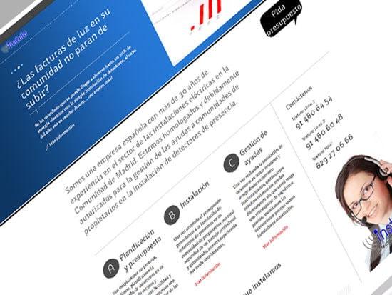Diseño de página web para instaladores de detectores de presencia