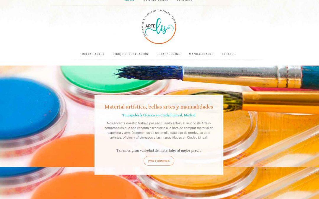 Diseñamos pagina web para Papelería Técnica, artes y manualidades