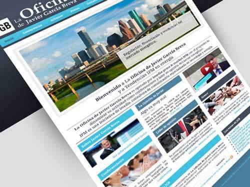 Diseño de página web para artículos de tendencias en energia