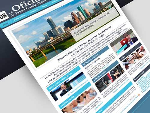 Diseño página web para tendencias en energías renovables