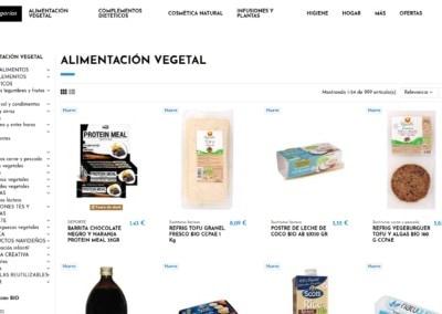 diseno tienda online productos naturales