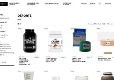 diseno tienda online saludable
