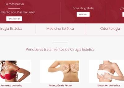 diseno web clinica cirugia estetica Diseño paginas web