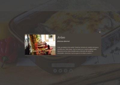 diseno web comida llevar terraza Diseño paginas web