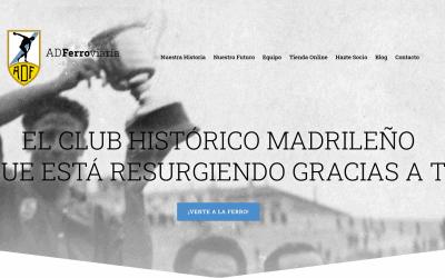 Diseño Web Para Club De Futbol Madrileño Y Asociación Deportiva