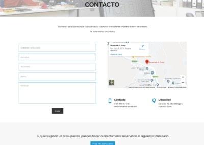 diseno web fabricacion comercializacion tuercas arandelas piezas Diseño paginas web