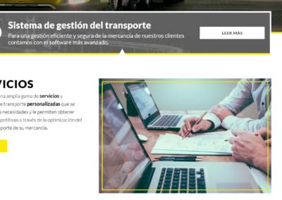diseno web gestion tranporte mercancias