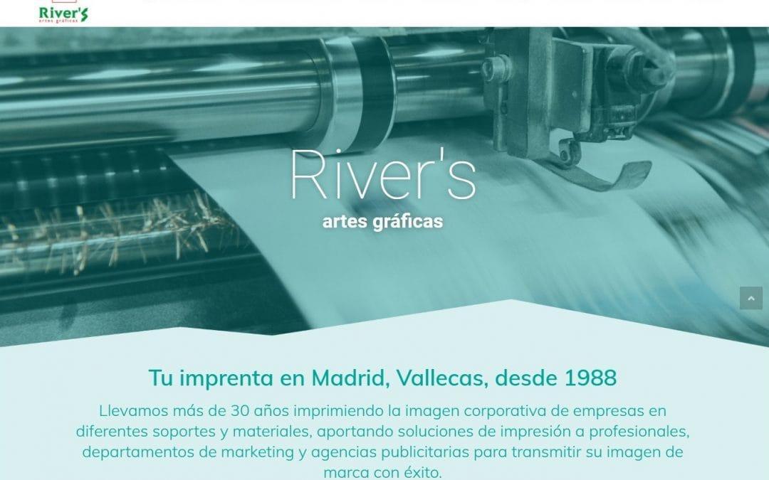 Creación nueva página web para empresa madrileña de Artes Gráficas