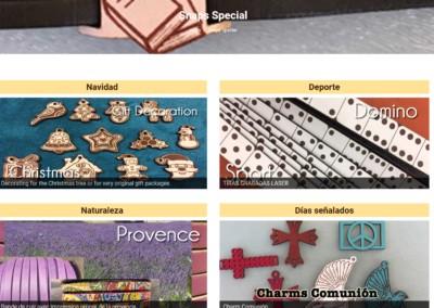 diseno web piezas laser Diseño paginas web