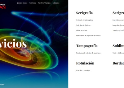 diseno web taller serigrafiado sublimacion Diseño paginas web