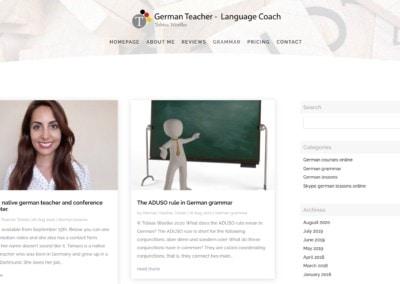 diseno web teacher profesor aleman Diseño paginas web