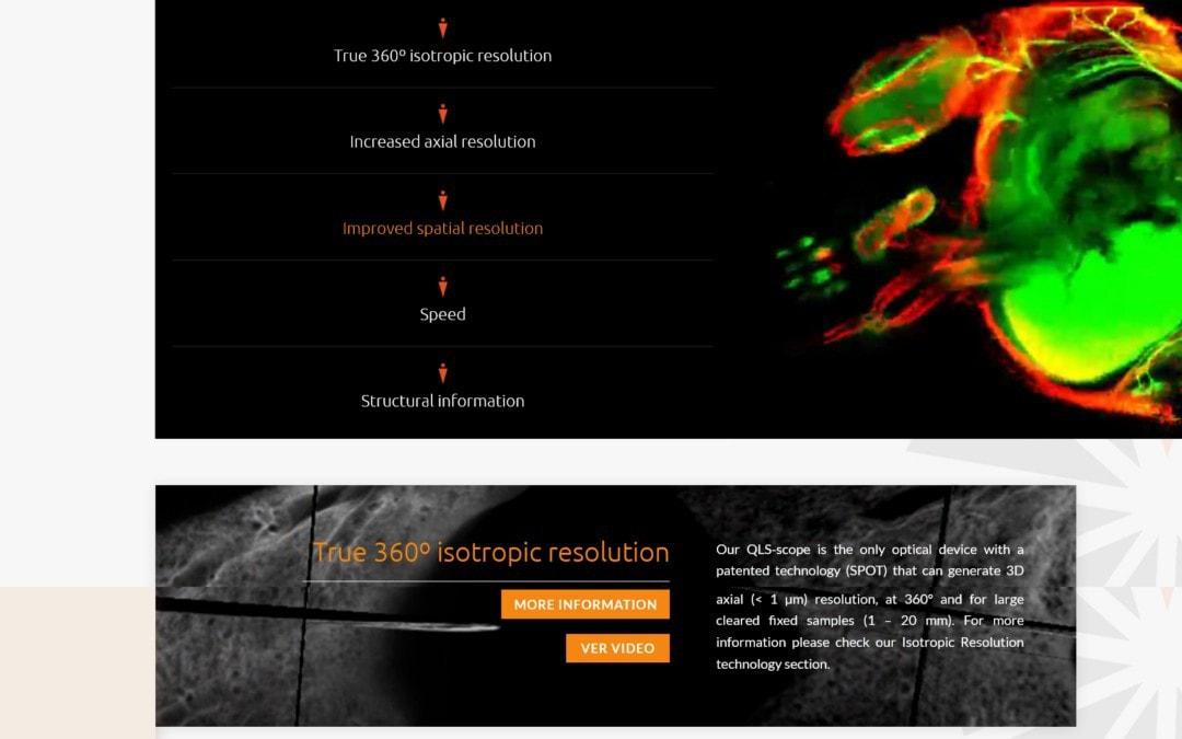 Diseño de pagina web corporativa para tecnología en investigación y ciencia