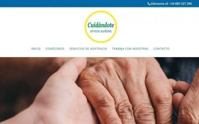 Diseño de página web para empresa de servicios auxiliares y ayuda al hogar