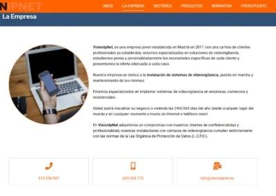 Empresa Madrid Videovigilancia Disenadores Web