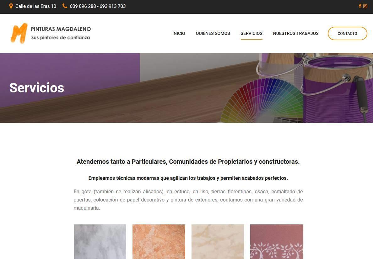 Diseño de páginas web para empresa de pintores y reformas en madrid ...