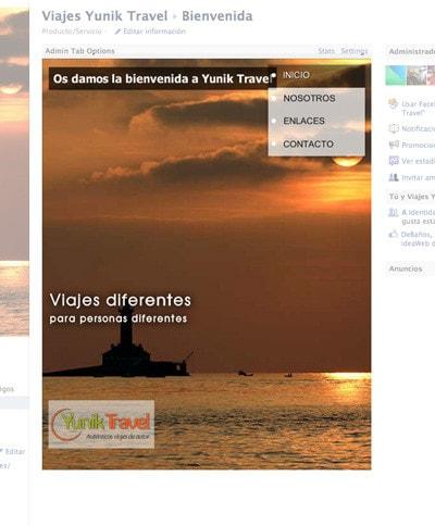 Diseño de mini-página web para redes sociales