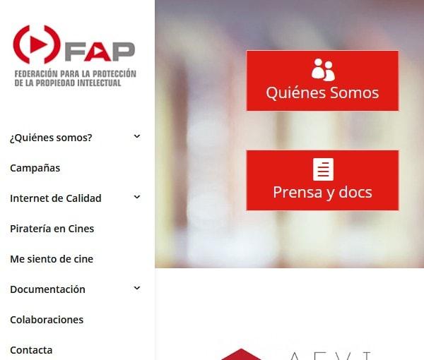 Diseño de página web de asociación de empresarios y empresas españolas y su federación en España
