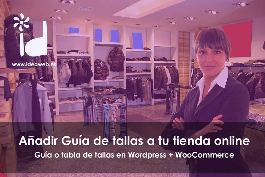 guia tabla tallas WooCommerce