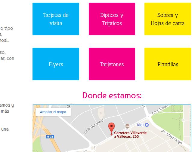 web para imprenta