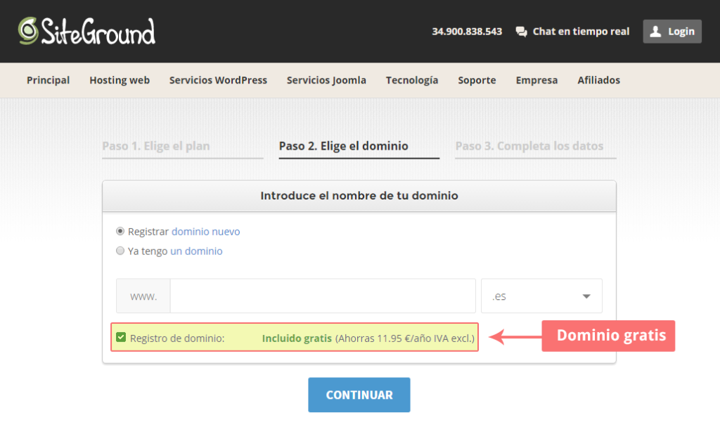 alojamiento wordpress gratis dominio