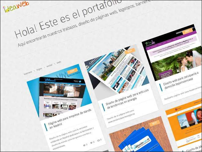 Nuevo portafolio ideaWeb