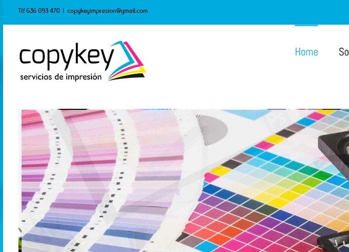 Diseño de página web para imprenta y servicio de copistería para empresas en Madrid.