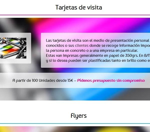 paginas web impresores imprenta