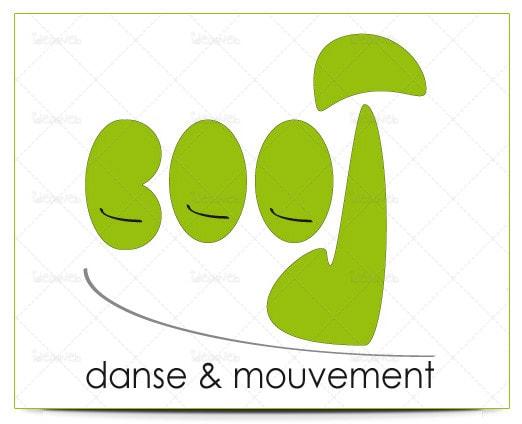 Diseño de logotipo escuela academia de baile y danza