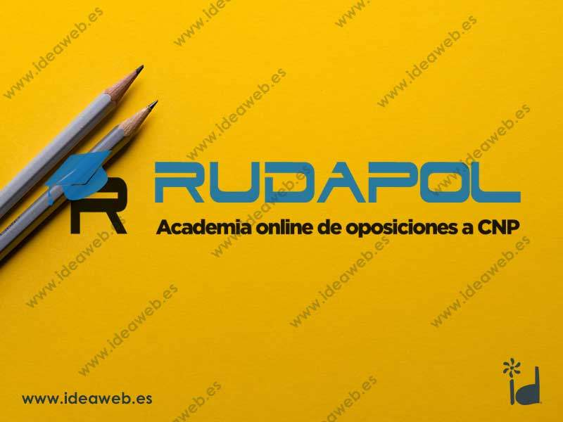 Logotipo academia policía oposiciones diseño