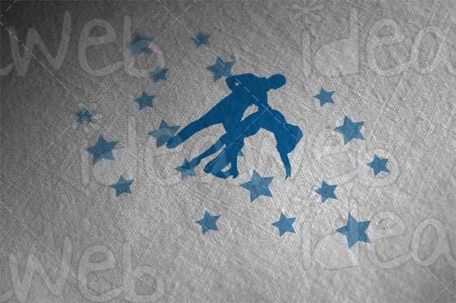 Logotipo para pareja de baile profesional