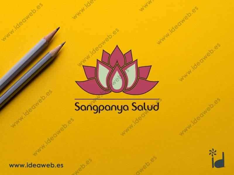 Diseño de logotipo para salud masaje bienestar