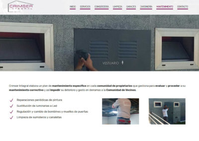 pagina web mantenimiento