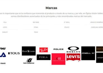 marcas gafas tienda vallecas villa Diseño paginas web