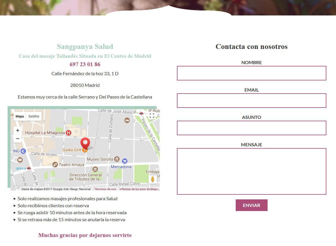 página web masajes mamada