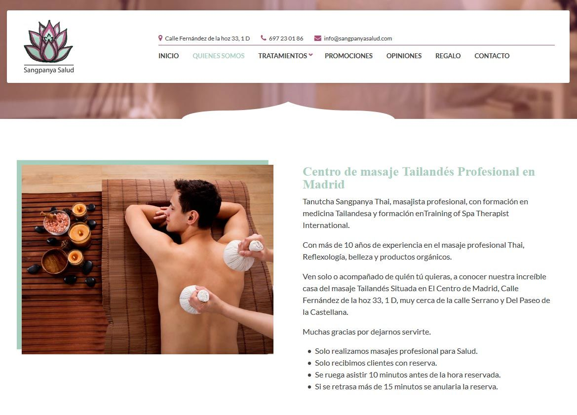 página web masajes tetona en Madrid