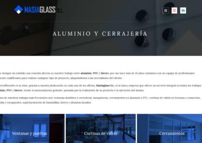 web para cristales