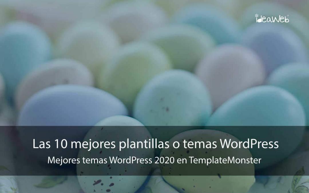 Las 10 mejores plantillas o temas WordPress para 2020 en TemplateMonster