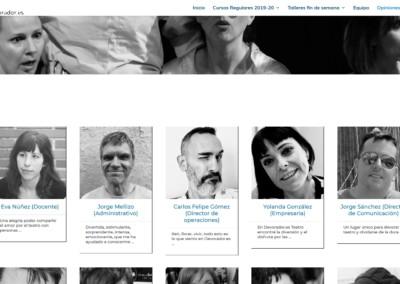 Opiniones Escuela Teatro Disenadores Web