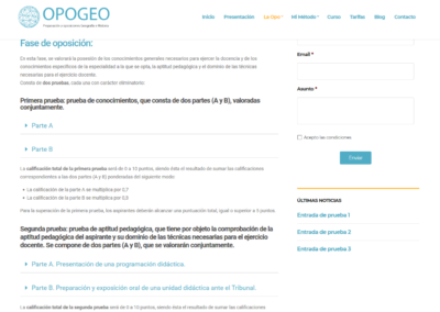 Opogeo Pruebas Oposiciones Madrid
