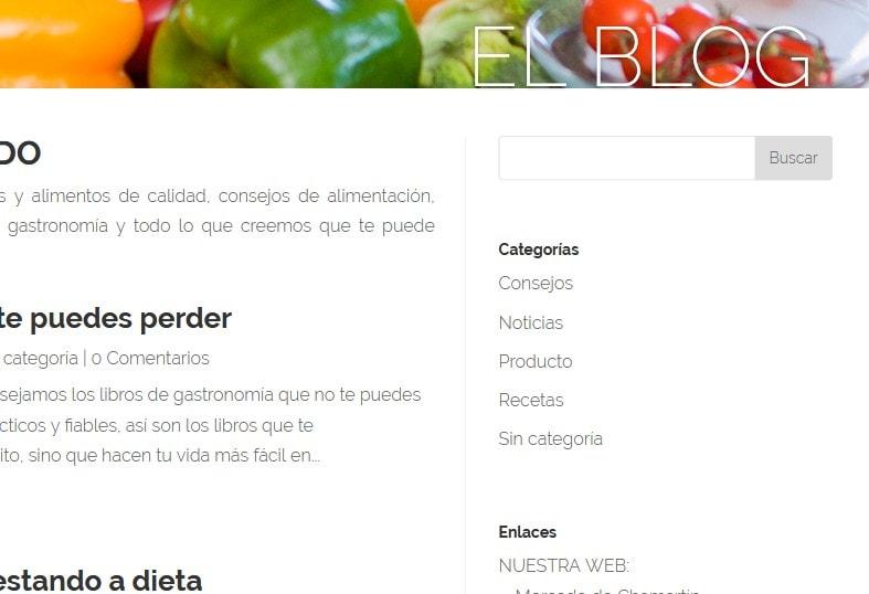 web para alimentación