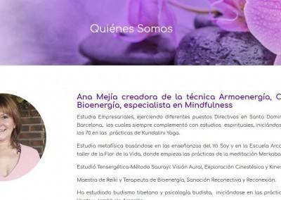 pagina armonia energia paz Diseño paginas web