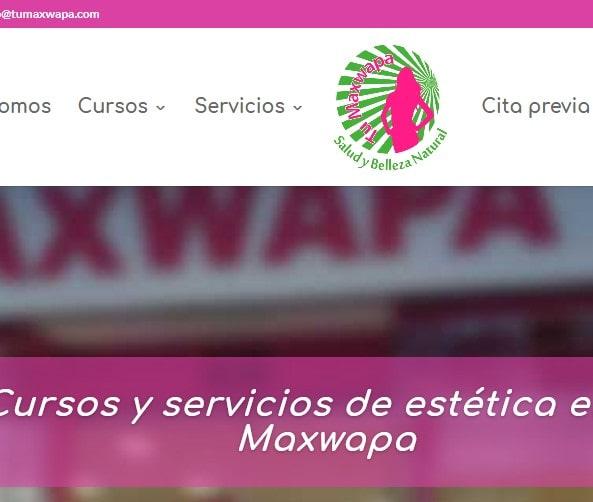 Diseño de página web para centro de belleza. Creación web Madrid para centro de estética.
